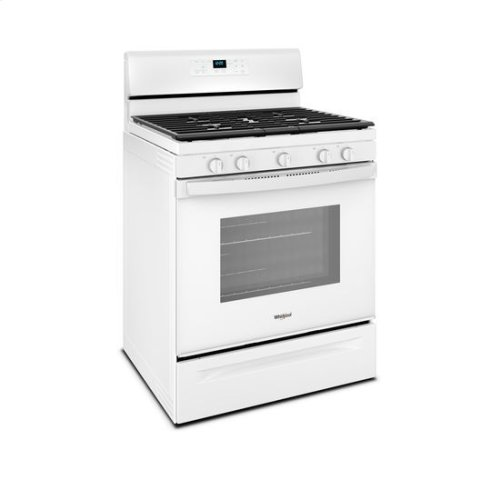 Whirlpool® 5.0 cu. ft. Freestanding Gas Range with Center Oval Burner - White