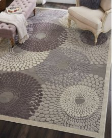 Graphic Illusions Gil04 Gry Round Rug 4' X 4'