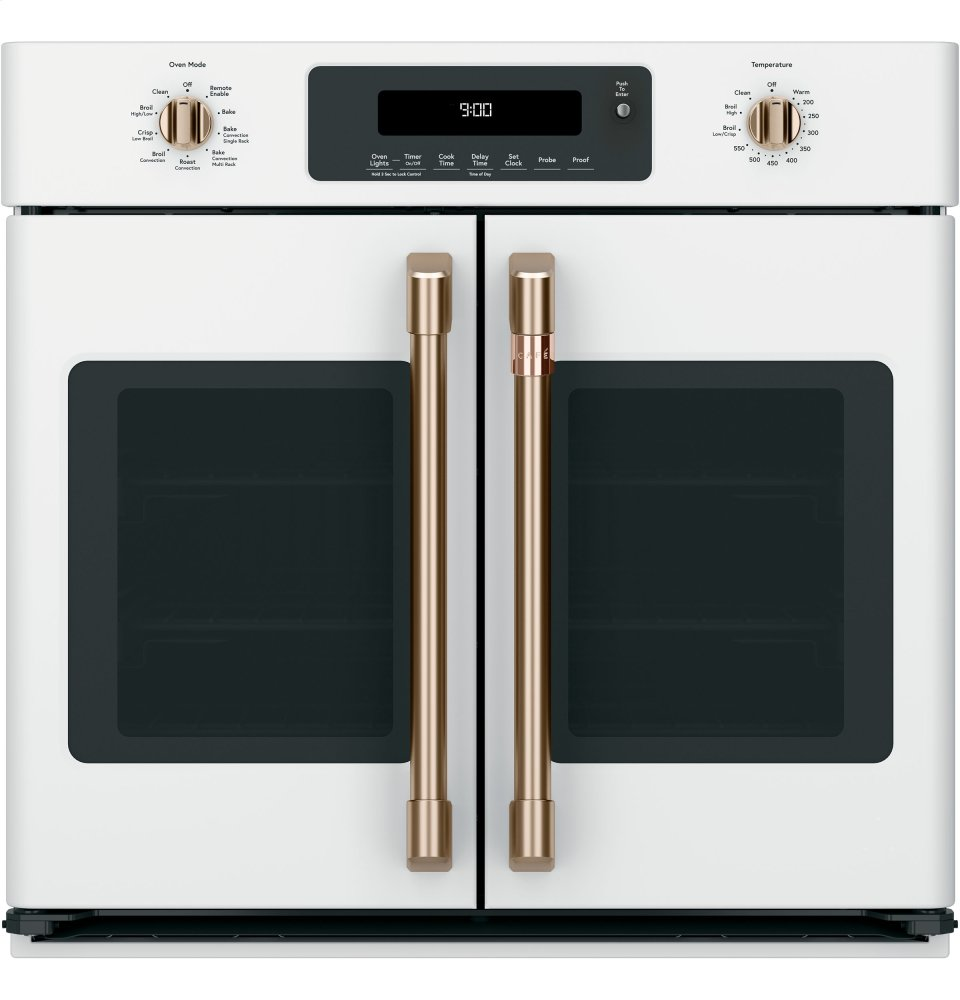 "Caf(eback) 30"" Smart French-Door Single Wall Oven with Convection
