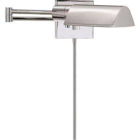 Visual Comfort 92025PN Studio 25 inch 60 watt Polished Nickel Swing-Arm Wall Light