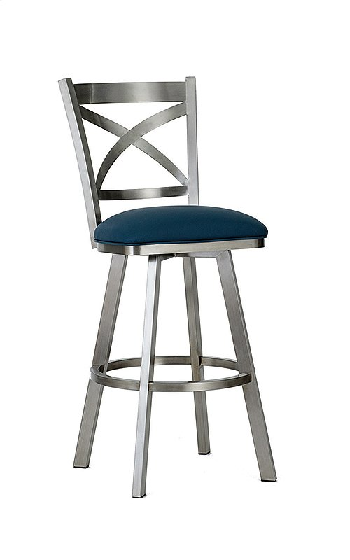 Edmonton BSS513H26S Stainless Steel Swivel Back no Arms Bar Stool
