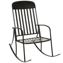 Distressed Black Rocking Chair