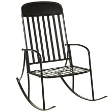 Distressed Black Rocking Chair