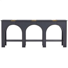 Havana Crossing - Portico Console In Indigo Blue