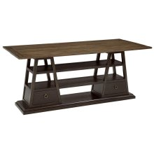 American Chapter Live Edge Flip Top Console