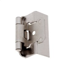 Satin Nickel Full Wrap Self-Closing Hinge