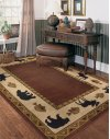 Cabin Retreat Merlot Machine Woven Rugs