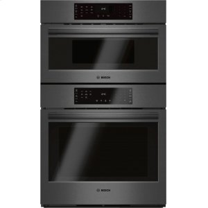"Bosch800 Series 30"" Combination Wall Oven with Speed Oven, HBL8742UC, Black Stainless Steel"