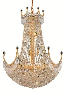 8949 Corona Collection Hanging Fixture Gold Finish