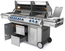 Prestige PRO 825 RSBI Stainless Steel with Infrared Rear, Bottom Burners