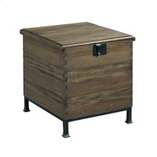Hidden Treasures Milling Chest End Table