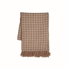 Hand Woven Barrett Throw Taupe