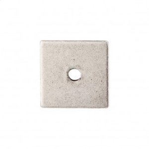 Square Backplate 1 Inch - Pewter Antique