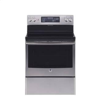 """GE 30"""" Electric Free Standing Convection Range Stainless Steel JCB830SKSS"""