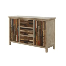 Emerald Home Pablo Pinewood Cabinet With 2 Doors & 3 Drawers-multi-colored-ac313-10