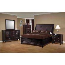 Sandy Beach Cappuccino King Five-piece Bedroom Set