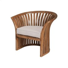 Teak Barrel Chair Cushion in Cream