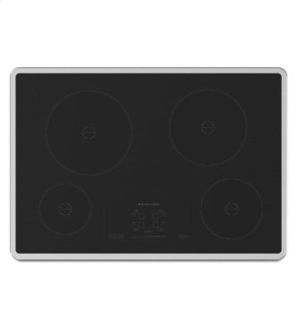 """30"""" Induction Cooktop with 4 Elements and Touch-Activated Controls - Stainless Steel"""