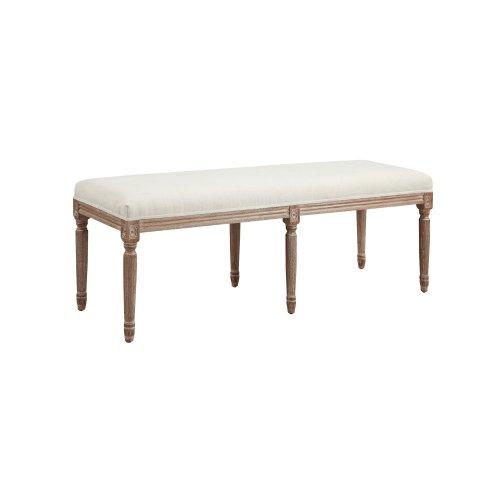 Emerald Home Salerno Bench W/uph Seat-sand Gray/distressed Finish-u3693-36-09
