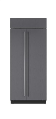 """36"""" Built-In Side-by-Side Refrigerator/Freezer - Panel Ready"""