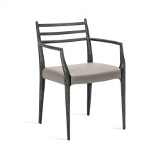 Beckham Arm Chair - Charcoal/ Grey