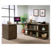 Perspectives Return Desk Brushed Acacia finish