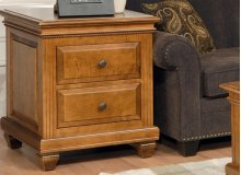Florentino 2 Drawer End Table w/ Paneled Sides and Back