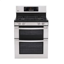 6.1 cu. ft. Capacity Gas Double Oven Range with 4 Sealed Gas Burners