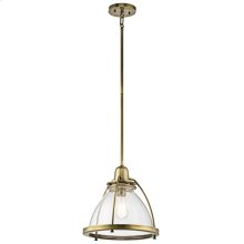 Silberne Collection Silberne 1 Light Pendant in Natural Brass NBR