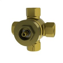 Three-Way Diverter Valve with Off - No Color