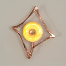 Abstract Reflector Sconce-Copper-HW