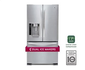 Ultra-Large Capacity 3 Door French Door Refrigerator with Dual Ice Makers