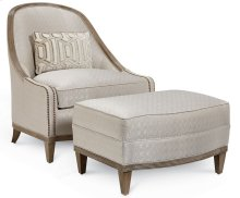 Cityscapes Cooper Slipper Chair Ottoman - Diamond