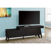 """TV STAND - 67""""L TO 84""""L / CAPPUCCINO / 2 DRAWERS"""
