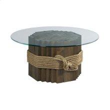 Hidden Treasures Rope/Wood Cocktail Table