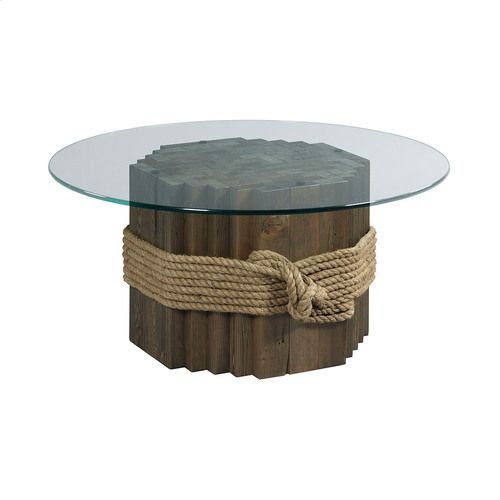 Hidden Treasures Rope/Wood Cocktail Table