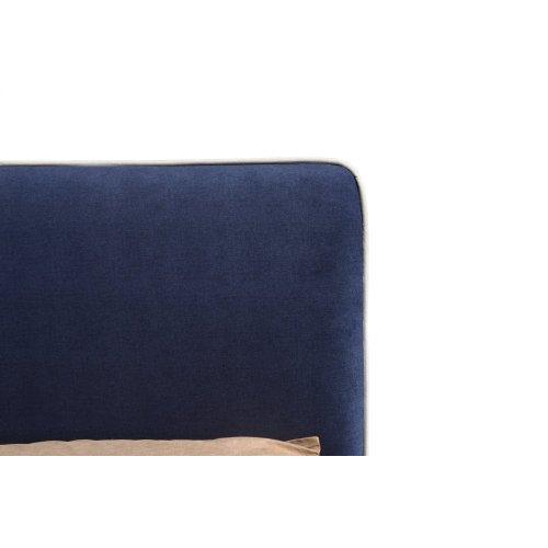 Emerald Home Twin 3/3 Upholstered Headboard Navy Blue #602