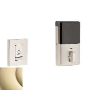 Lifetime Polished Brass Evolved Contemporary Deadbolt Product Image