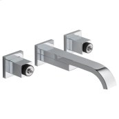 Two-handle Wall Mount Lavatory Faucet - Less Handles