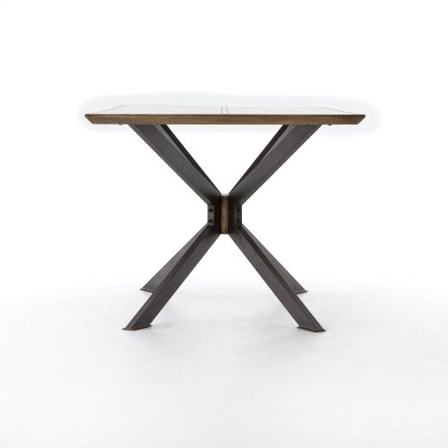 """Bright Brass Clad Finish 79"""" Size Spider Dining Table"""