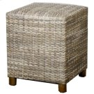 Rattan Square Rattan Stool, Gray Product Image