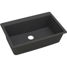 "Elkay Quartz Classic 33"" x 20-7/8"" x 9-7/16"", Single Bowl Drop-in Sink, Black"