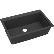 """Elkay Quartz Classic 33"""" x 20-7/8"""" x 9-7/16"""", Single Bowl Drop-in Sink, Black"""