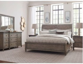 Queen Anna Sleigh Bed 5/0 Complete