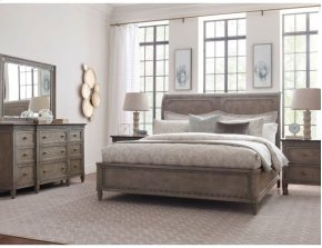 King Anna Sleigh Bed 6/6 Complete