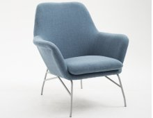 Emerald Home Essex Accent Chair-denim Blue-silver Powder Coated Steel Legs-u3323-05-04