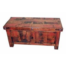 """39"""" Red Rubbed Trunk"""