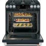 "Caf(eback) 30"" Smart Slide-In, Front-Control, Gas Range With Convection Oven"