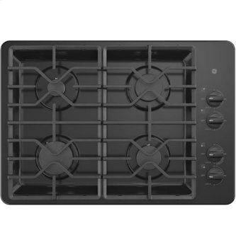 "30"" Built-In Gas Deep Recessed Black Cooktop"