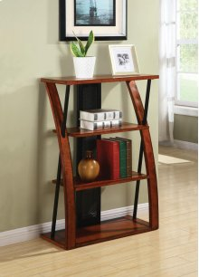 Aurora Bookcase With Powder-coated Black Accents